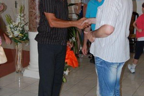 Peter Horvát (vľavo) tvorí len keď je pozitívne naladený.