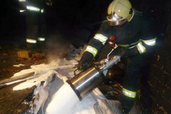 Hasiči. Strážske si za pohotovosť a výjazdy súkromnej hasičskej jednotky platí.