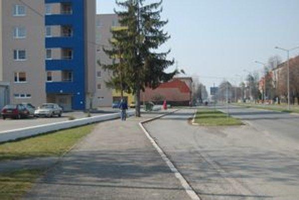 Masarykova ulica. Na tomto mieste bola kedysi zastávka.
