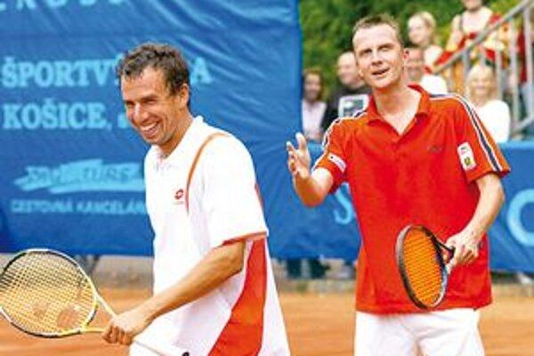 Dominik Hrbatý a Karol Kučera. Hviezdna dvojica je veľkým diváckym lákadlom.