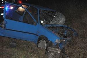 Tragická nehoda. Vodička peugeotu neprežila zrážku s oprotiidúcim autom, ktoré najprv zachytilo jeleňa.