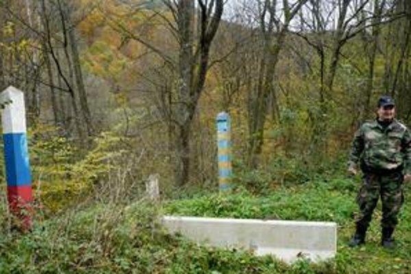 Priechod. Na tomto mieste na hranici by raz mohol vyrásť hraničný priechod na Ukrajinu.