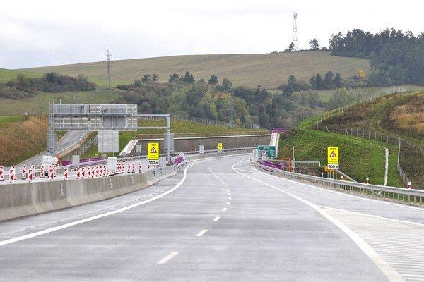 Pohľad na I. úsek diaľnice D1 Jánovce – Jablonov.