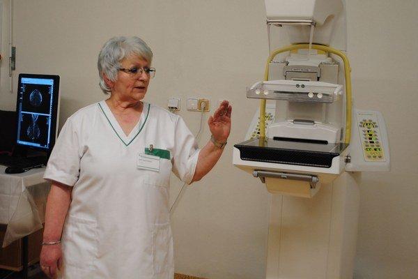 Z. Wolfová. Pri novom mamografe.