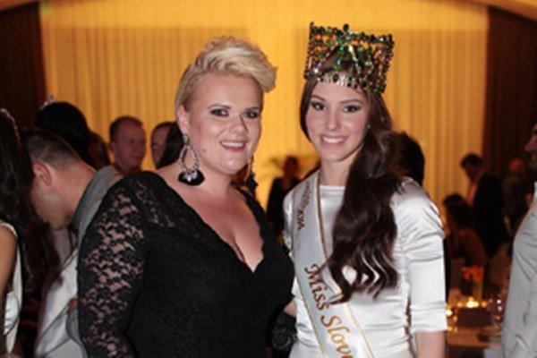 Linda Hudecová s Miss Slovensko 2014 Laurou Longauerovou.