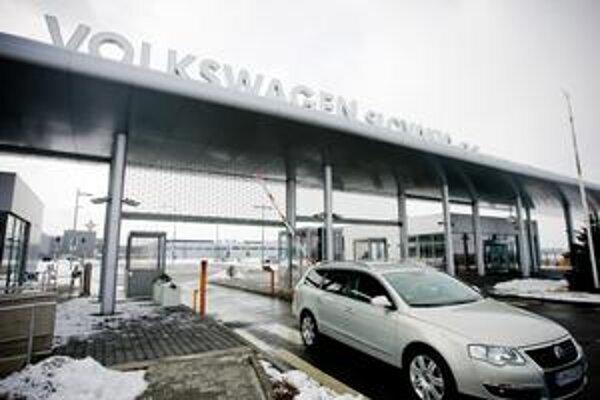 Vstup do bratislavského závodu automobilky Volkswagen.