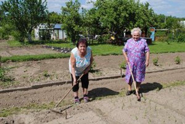 Matka a dcéra. Na záhradku nedajú dopustiť, staršia z nich má 90 rokov.