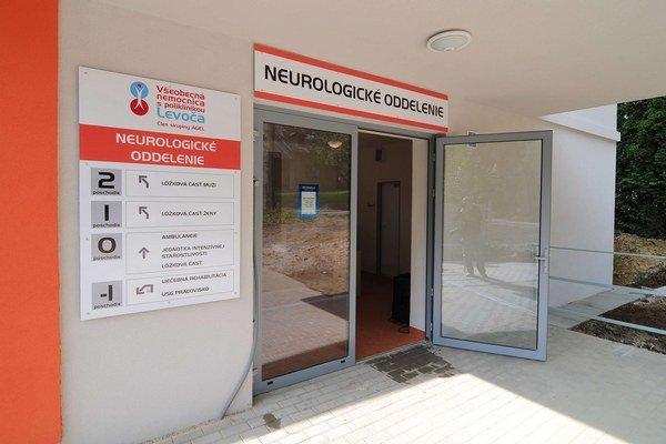 Nový pavilón v levočskej nemocnici.