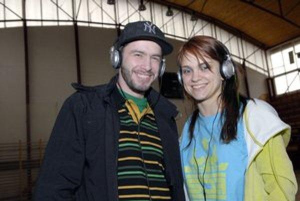 Laci Strike s Aničkou. Na jednom z festivalových ročníkov svojím tancom zabávali publikum.