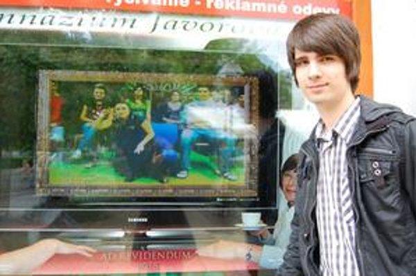 Michal Toporcer. Je rád, že sa mu nápad s pohyblivým tablom podarilo dotiahnuť do úspešného konca.