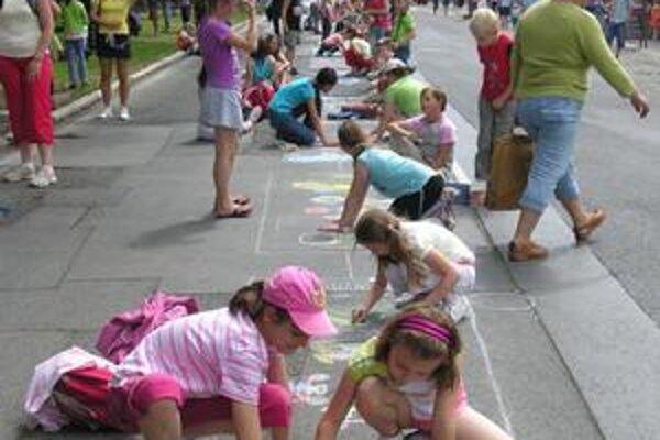 Mesto plné detí. Podujatie organizuje CVČ Adam.