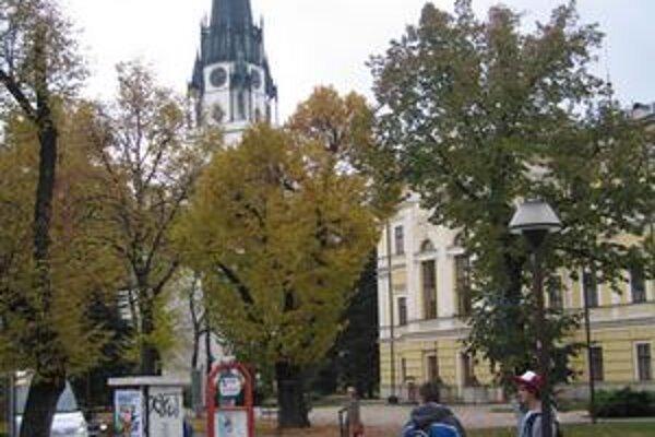 Radničné námestie. Na tretiu etapu jeho obnovy dostalo mesto peniaze z eurofondov.