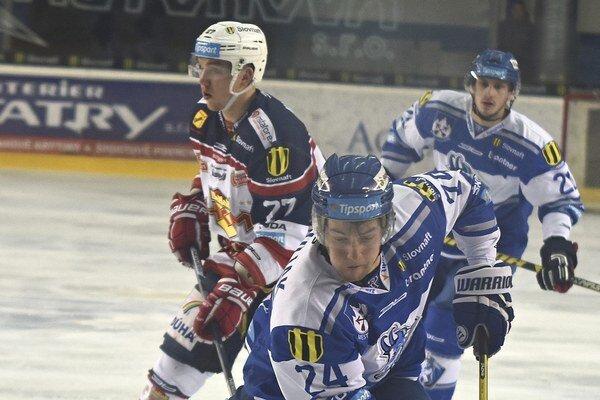 Patrik Števuliak dal dva góly Popradu.