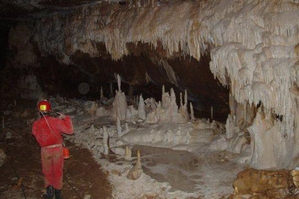 V Stratenskej jaskyni.