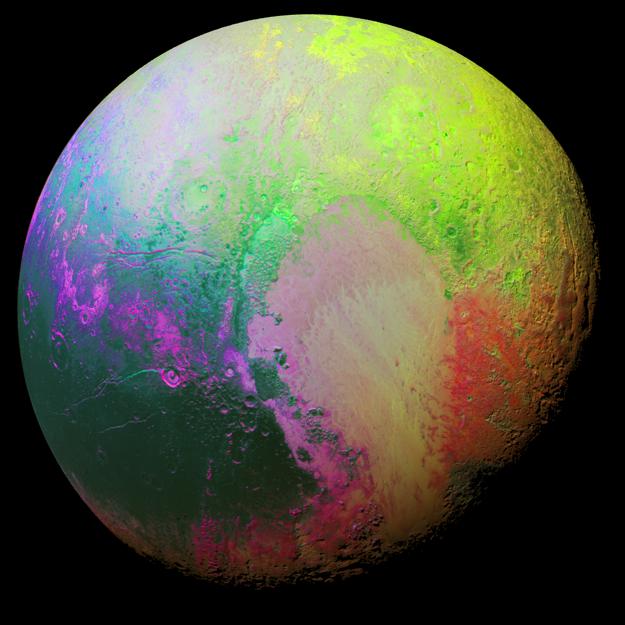 Psychedelické Pluto.