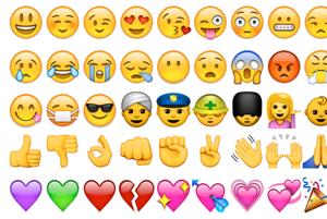 Emoji pochádza z japonských slov e (obrázok) a moji (písmeno).