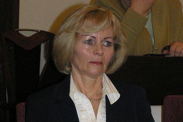 Zita Kozlerová. Kritizovala výšku dotácií.