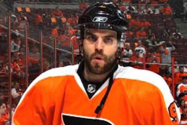 David Laliberte v drese Philadelphie Flyers.