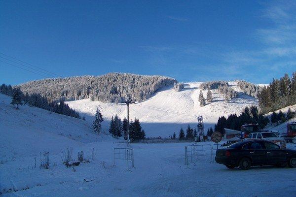 Zatvorené lyžiarske stredisko Smrečiny v Liptovskej Tepličke.