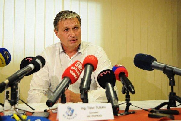 Konateľ popradského hokejového klubu HK Poprad Tibor Turan.