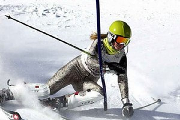 Andrea Pospíšilová. Na Štrbskom Plese vyhrala slalom.
