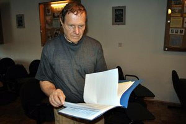 Mikuláš Argalács. Návrh na udelenie Ceny mesta Poprad odmietol.