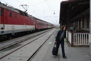 Novoveská stanica. Vlaky na Poprad z nej nejazdili.