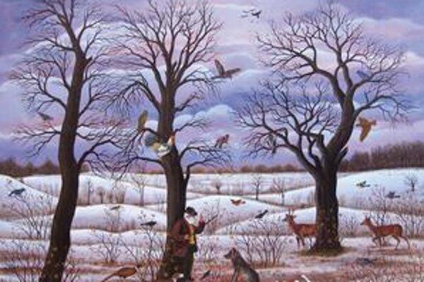 Farebnejší. Naivným umením sa preslávili Slováci z Vojvodiny. Priestor si však nachádza už na chladnom severe.