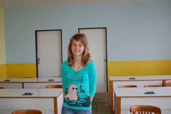 Víťazka v kategórii B. Talentovaná žiačka Anna Dorošenková.