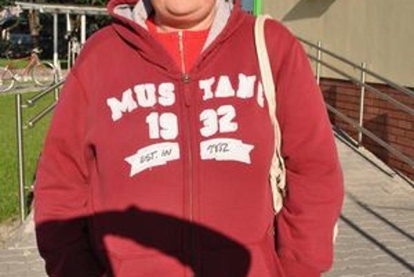 Dana Mencáková do mesta vykročila poriadne zababušená. Na sebe mala tielko, tričko aj hrubú mikinu.