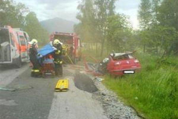 Po nehode. Záchranári bojovali o Františkov život.
