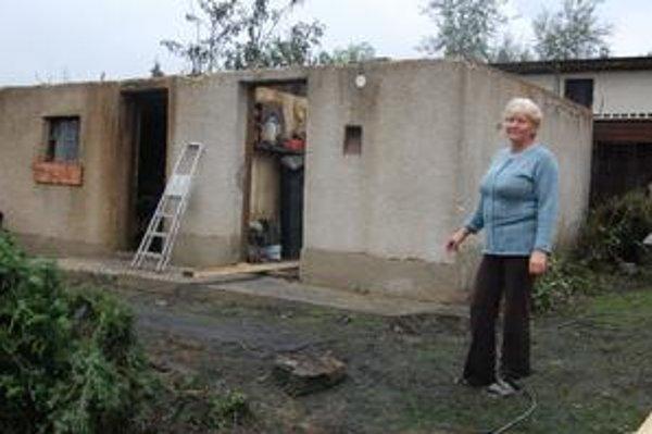 Majiteľka stodoly. Rozália Grichová požiaru nerozumie. Problémy s miestnymi vraj nemá.
