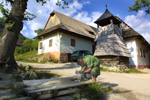 Vlkolínec je dedinka zapísaná v zozname chránených pamiatok UNESCO.