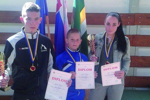 Zľava Viktor Kišš, David Kišš a Adriana Naďová.