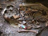 Nález takmer 10 000 rokov starej kostry v Gruzínsku.