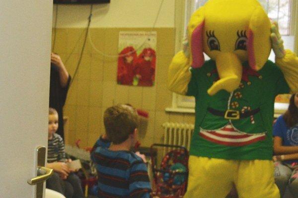 OZ pripravilo pre deti aj program s maskotom.