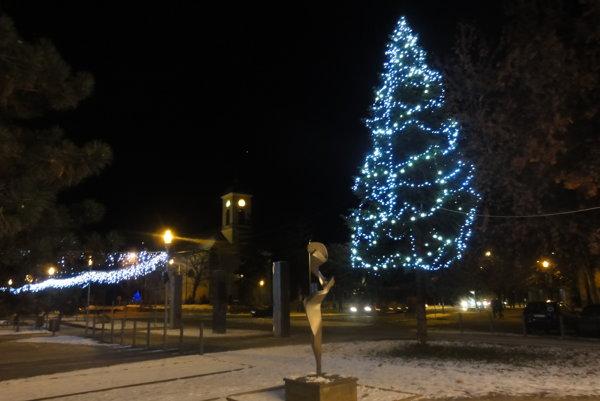 V Šali už stoja vianočné stromčeky.