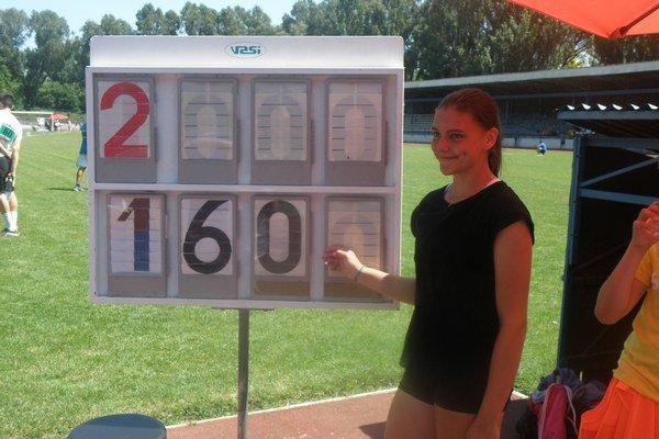 Janka Kusyová zvládla 160 cm na druhý pokus.