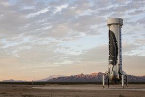 New Shepard po pristátí.
