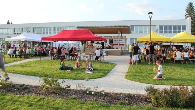 V novom parku v Chrenovci-Brusne organizujú podujatia.