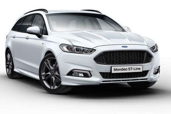 Športovo ladené Mondeo ST-Line. Na pohon novej špičkovej verzie sú k dispozícii výkonné a úsporné motory, pokrývajúce výkonový rozsah do 110 kW do 176 kW.