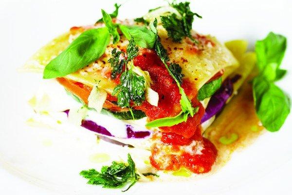 Zeleninové lasagne.