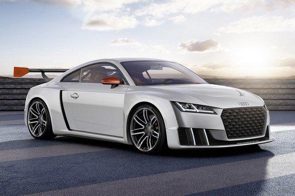 Technická štúdia Audi TT clubsport turbo. Štúdia má okrem bežného turbodúchadla, poháňaného výfukovými plynmi, aj elektromotorom poháňané dúchadlo.