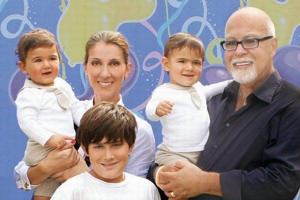 Celine Dion s rodinou.