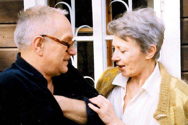 Už patrí k legendám. Na snímke z roku 1994 s manželom.