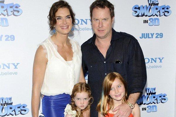 Brooke Shields s rodinkou.