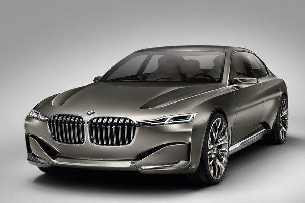 Štúdia BMW Vision Future Luxury. Štúdia Vision Future Luxury predstavuje superluxusnú limuzínu, z ktorej bude pravdepodobne odvodený sériový model nového radu 9.