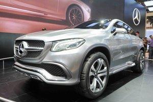 Štúdia Mercedes-Benz Concept Coupé SUV. Štúdia mala svetovú premiéru na autosalóne v Pekingu a jej sériová verzia príde na trh v roku 2015.