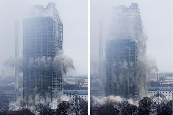 Zdemolovali 116-metrovú budovu.