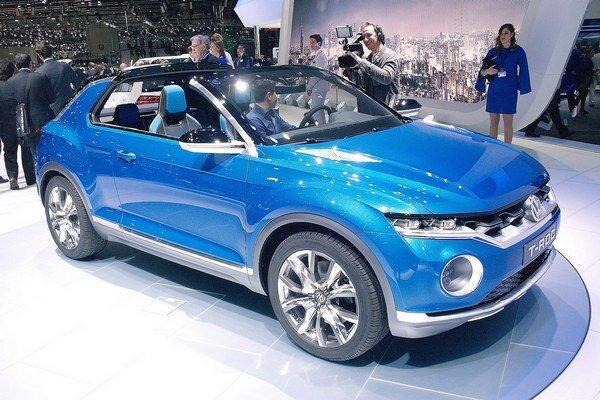 Štúdia Volkswagen T-ROC. Z tejto dvojdverovej štúdie bude odvodený športovo-úžitkový automobil, ktorý sa zaradí pod model Tiguan.